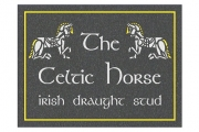 Celtic Horse Stud Engraved Sign