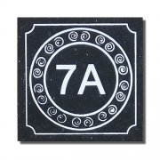 Celtic Spiral Number Plaque