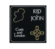 Celticcross knot and ireland  Engraved Memorial