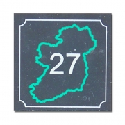 Ireland Number Plaque