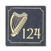 Irish Harp House Number Plaque