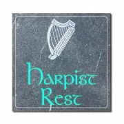 Irish Harp (Harpists Rest) Engraved House Sign