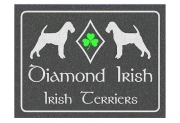 Irish Terrier Diamond Irish Sign