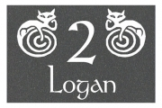 Logan Moggy Engraved Sign