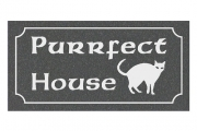 Purrfect Cats House Sign