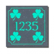 Shamrock House Number Plaque