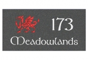 The Welsh Red Dragon House Plaque