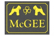 Irish Wheaten Terrier Engraved Sign